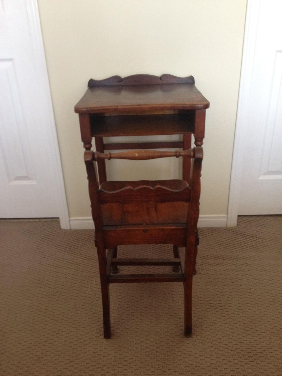 Best Antique Telephone Table And Chair For Sale In