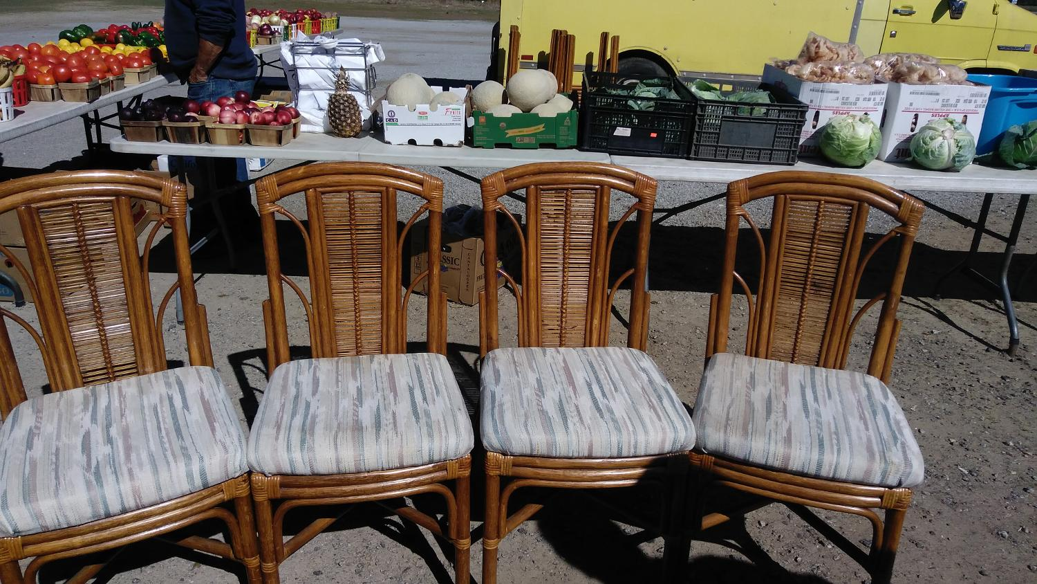 Find More Set Of 4 Rattan Chairs Great Condition For Sale At Up To 90 Off Sumter Sc