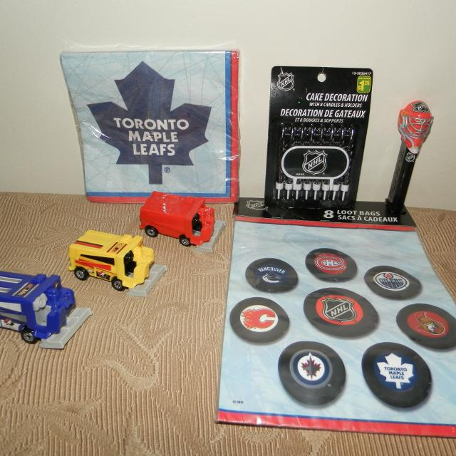 Find More Nhl Hockey Birthday Decor Loot Bags Napkins Candles