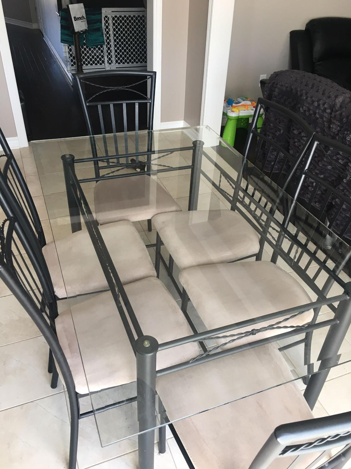 Find More Glass Table With 6 Chairs For Sale At Up To 90 Off Oshawa ON