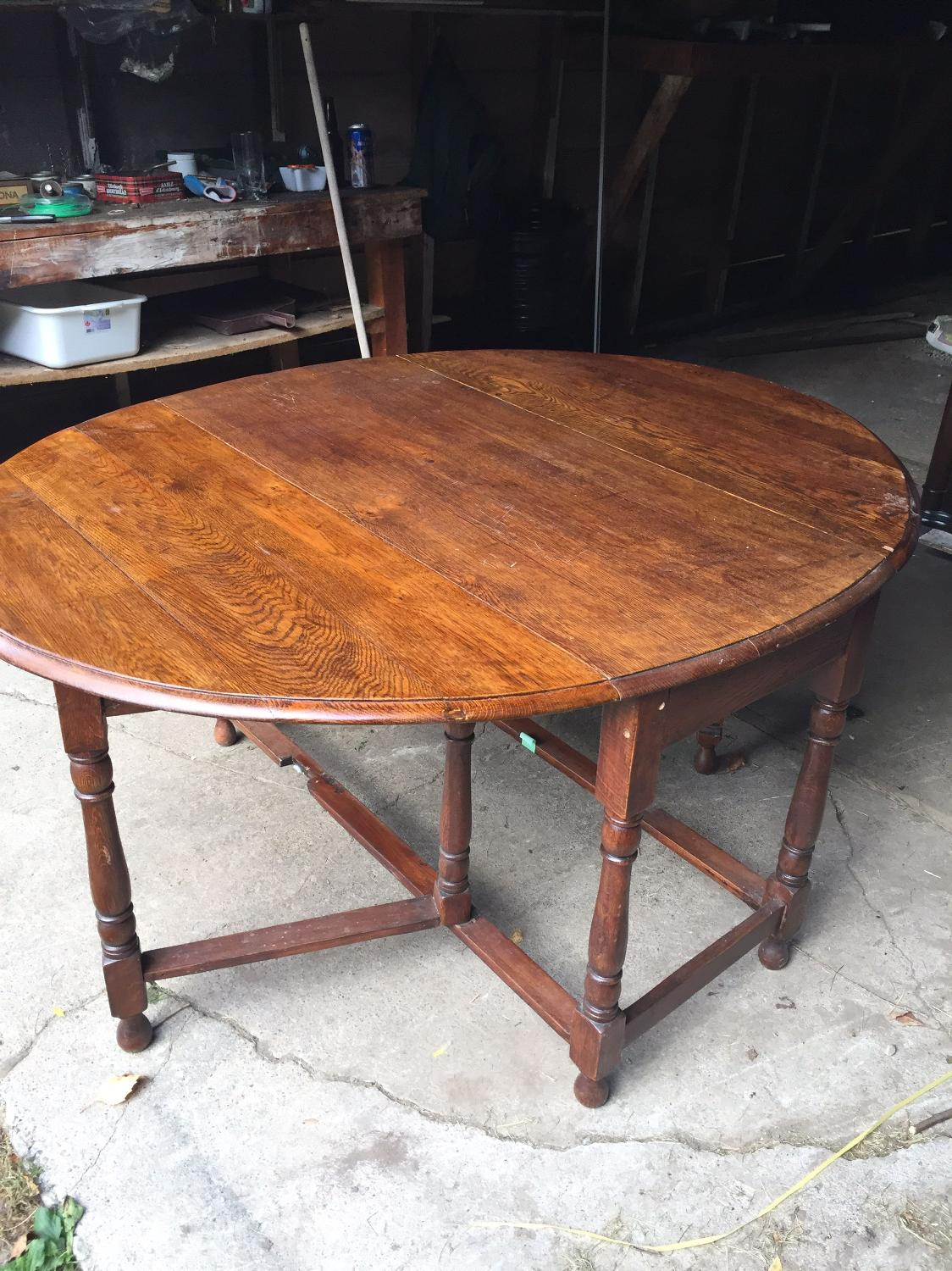 Best Solid Oak Table (make A Good Offer) For Sale In Oshawa Ontario . Full resolution  photo, nominally Width 1124 Height 1500 pixels, photo with #9D5B2E.