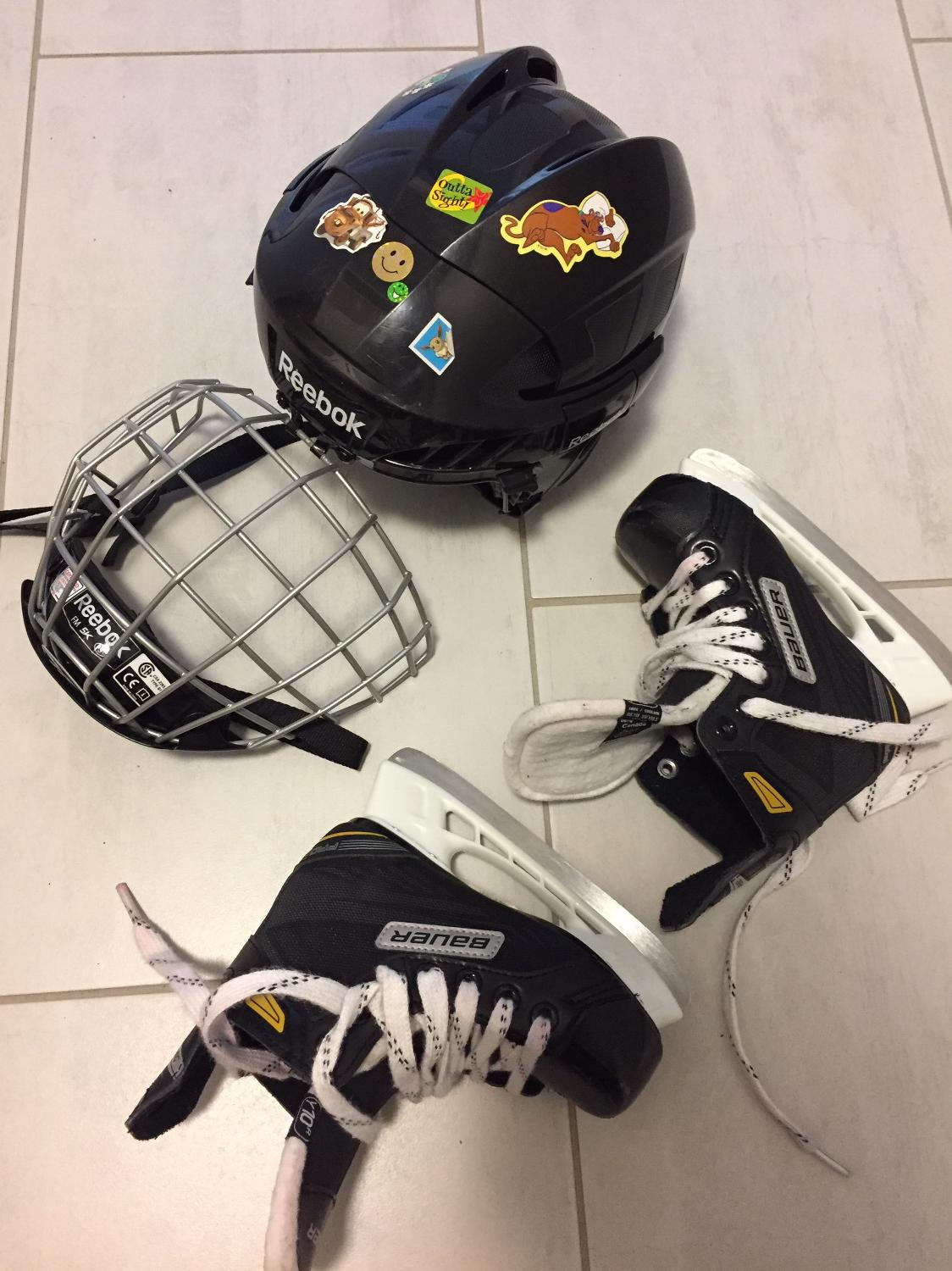 Best Kids Hockey Skates And Helmet - Size 11 for sale in ...