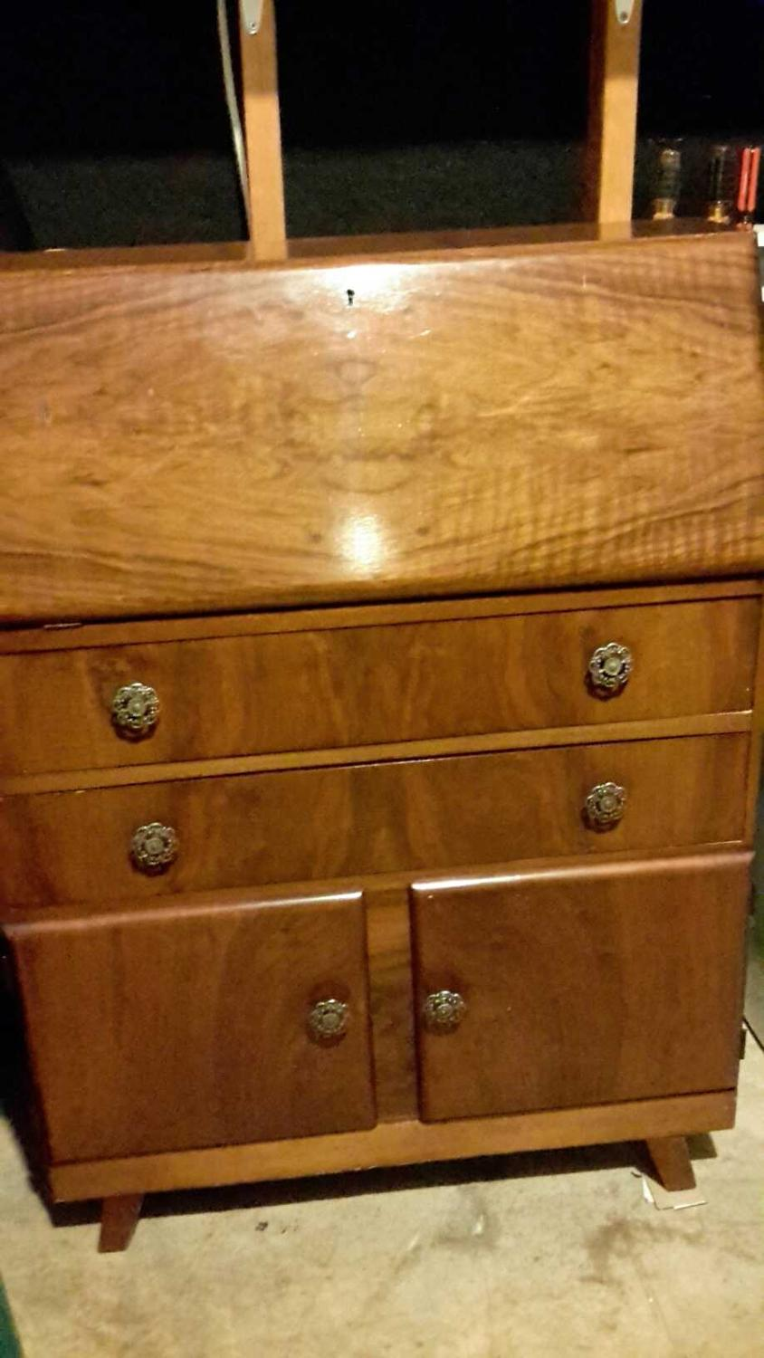 Find More Reduced Vintage Secretary Desk Pull Down Top
