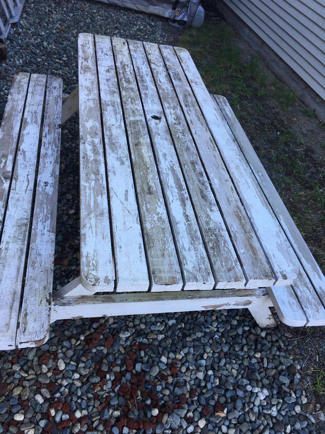 Find more picnic table standard adult size with hole for for Outdoor furniture victoria bc