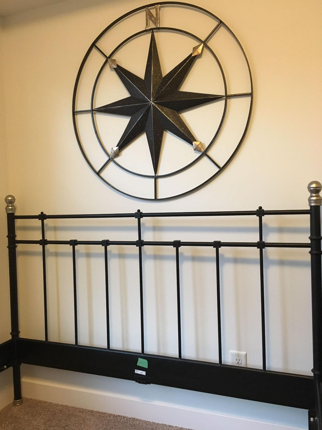 Wonderful image of Find more Modern Metal Bed Frame Queen Size With Wooden Slats for sale  with #987133 color and 1124x1500 pixels