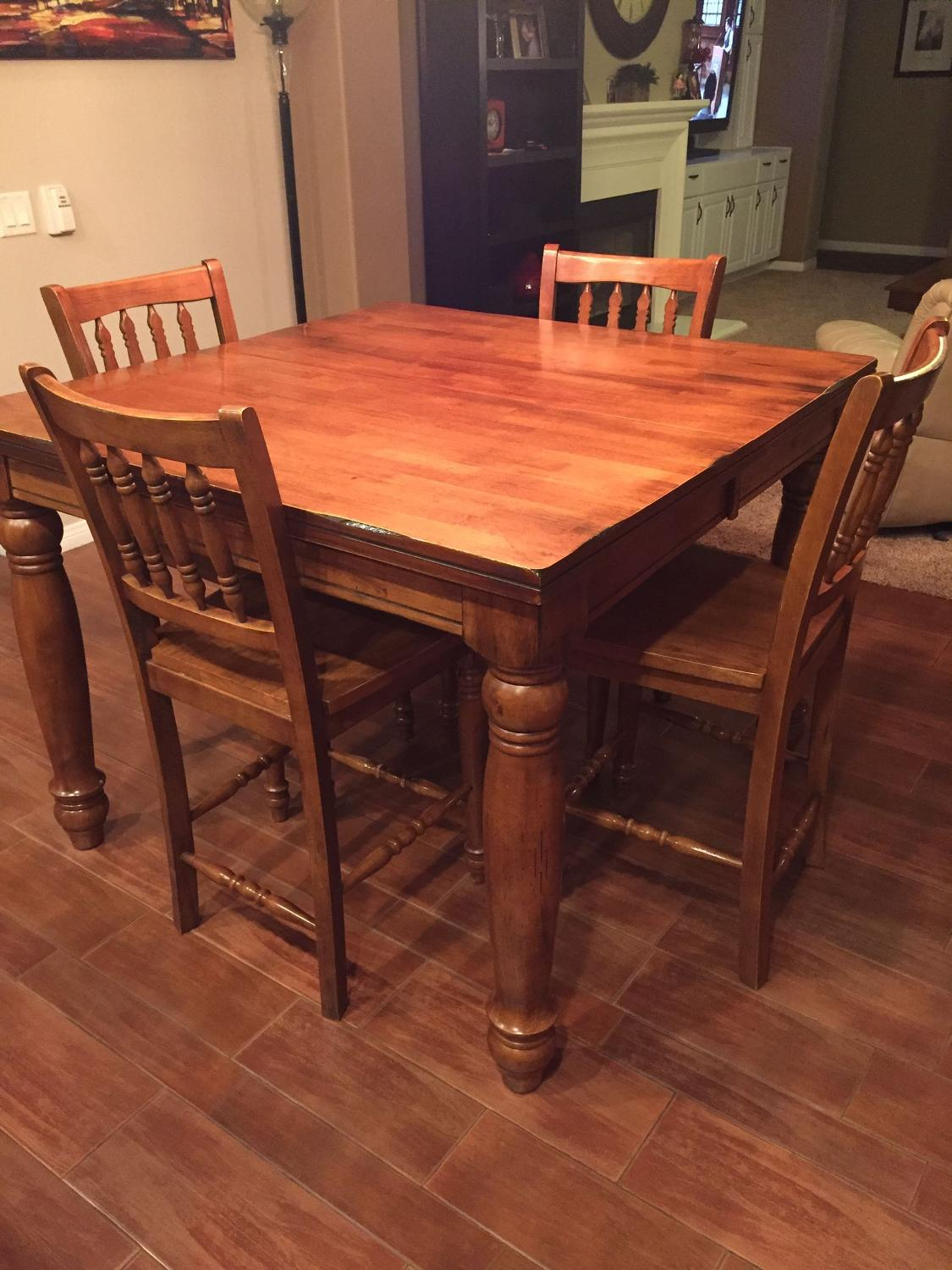 Find More Dining Room Pub Height Set W 6 Chairs 300 Need Gone Asap For Sale