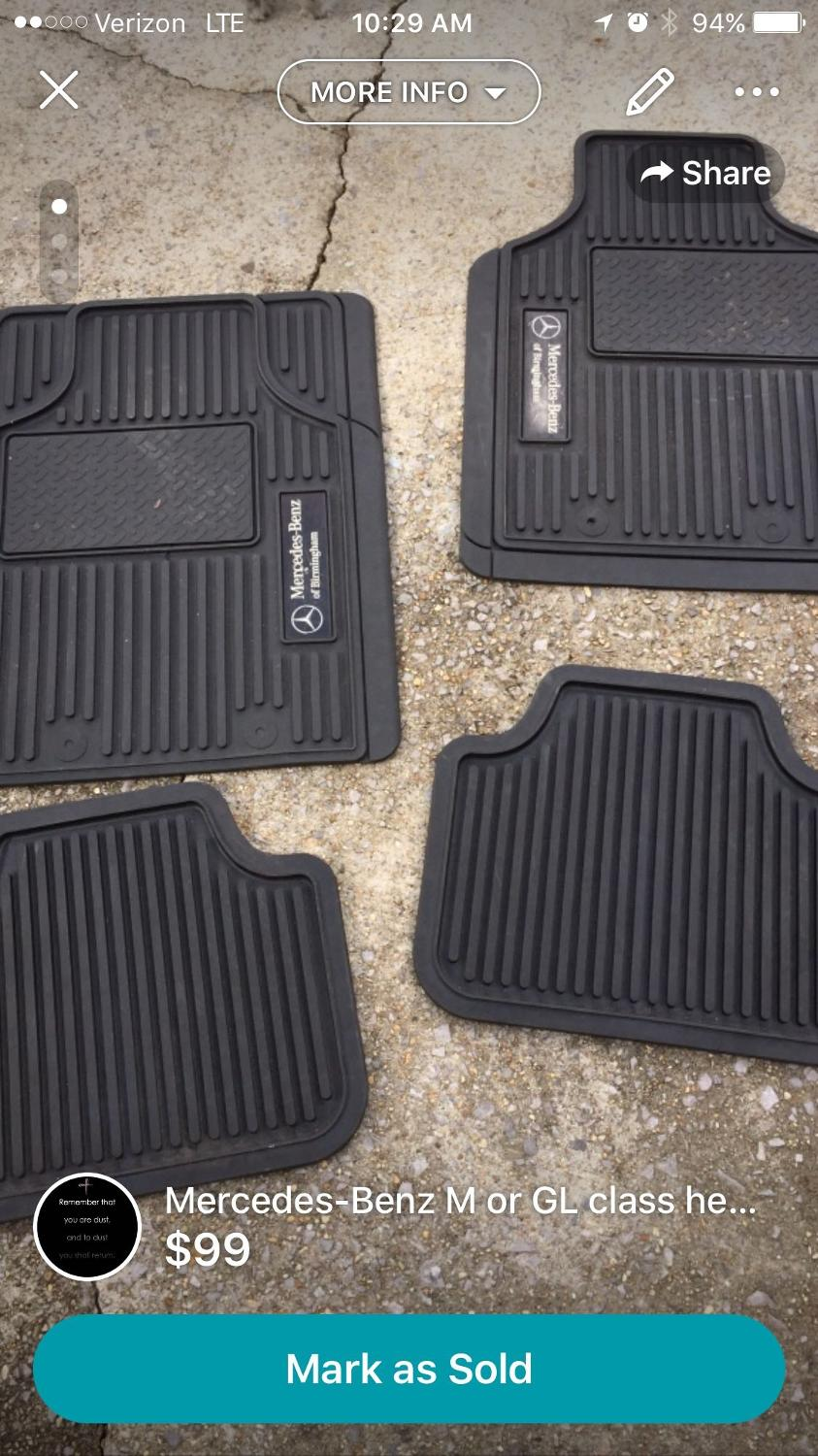 Find more mercedes benz rubber floor mats for sale at up for Mercedes benz floor mats