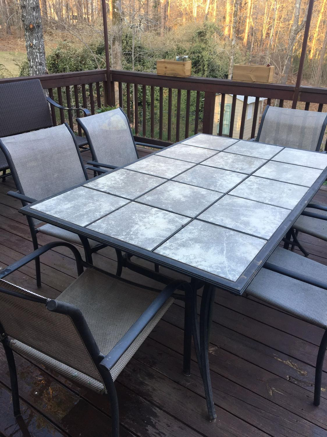 Find More Outdoor Table And 6 Chairs For Sale At Up To 90 Off Mountain Brook Al