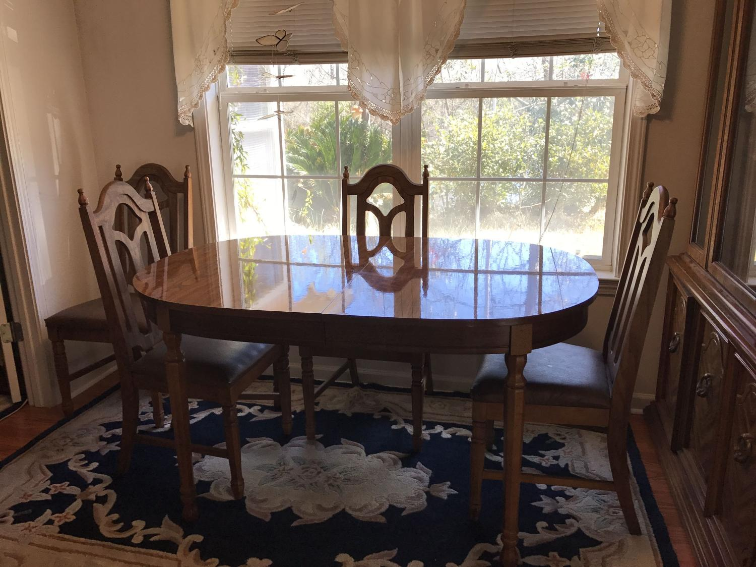 Best China Cabinet Table W Leaf 6 Chairs For Sale In Sumter South Carolina For 2018