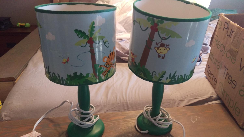 find more safari nursery lamps for sale at up to 90 off regina sk. Black Bedroom Furniture Sets. Home Design Ideas
