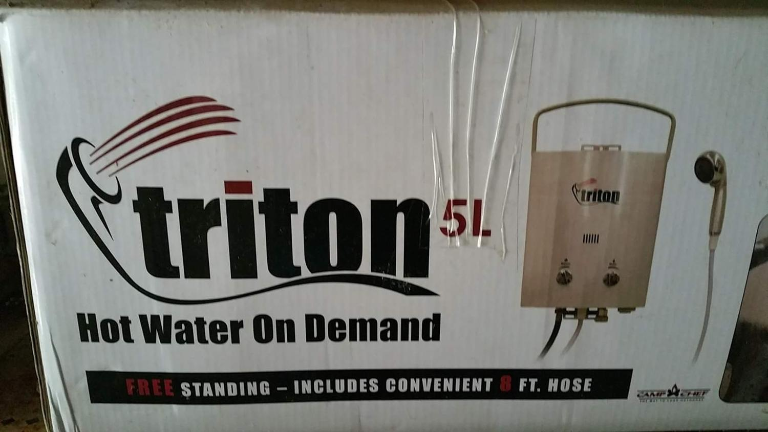Find more camp chef triton hot water heater never used for Used hot water heater