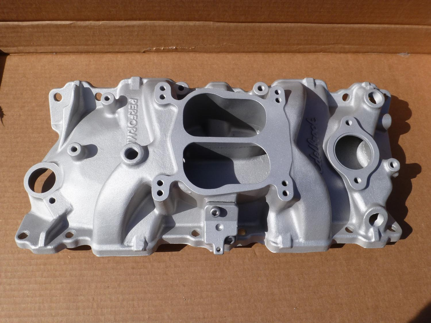 find more edelbrock 2101 performer 350 small block chevy intake manifold for sale at up to 90. Black Bedroom Furniture Sets. Home Design Ideas