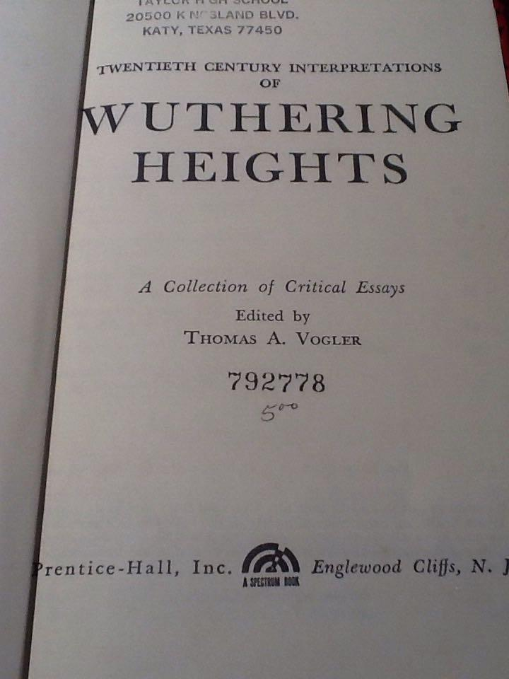 Wuthering heights critical essays