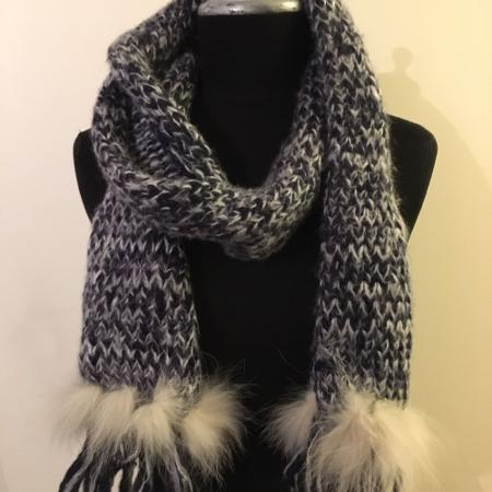 Haricanna wool and rabbit fur scarf, used for sale  Canada