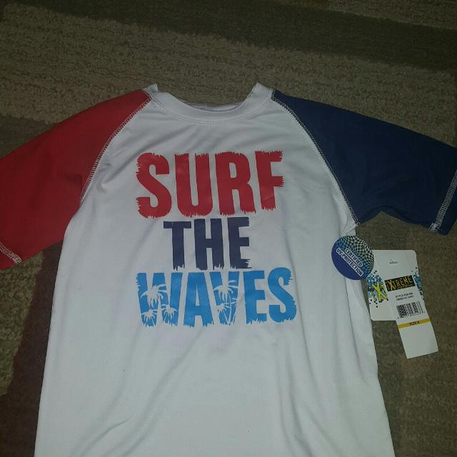 2248aed5ec4 Best Surf The Waves Boys Uv Rash Guard Swim Shirt Nwt for sale in Karns,  Tennessee for 2019