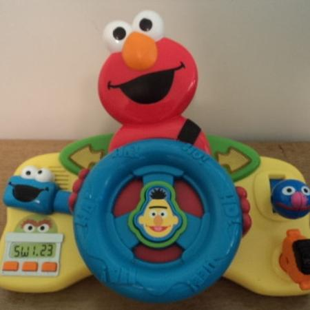 Carseat Stroller Toy Elmo Driving Sounds And Lights