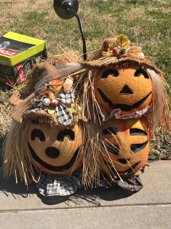 Best fiber optic pumpkin halloween decoration for sale in for Fiber optic halloween decorations home