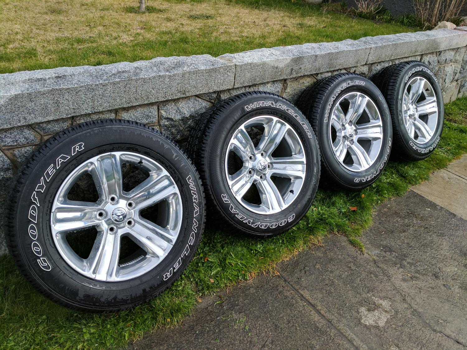 find more obo dodge ram 1500 wheels and tires for sale at up to 90 off victoria bc. Black Bedroom Furniture Sets. Home Design Ideas