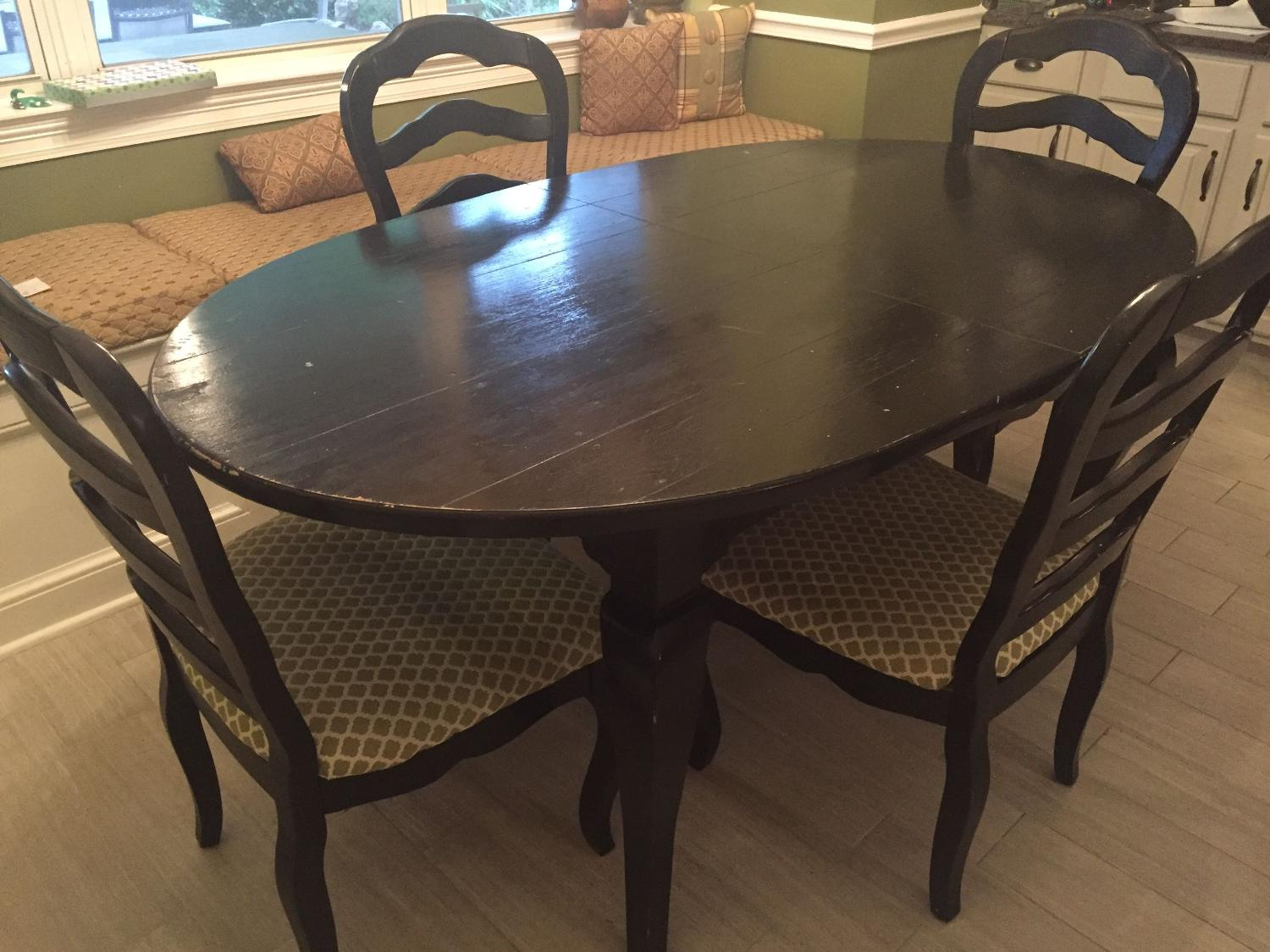 Find More Pottery Barn Dining Table With 4 Chairs- Must Go