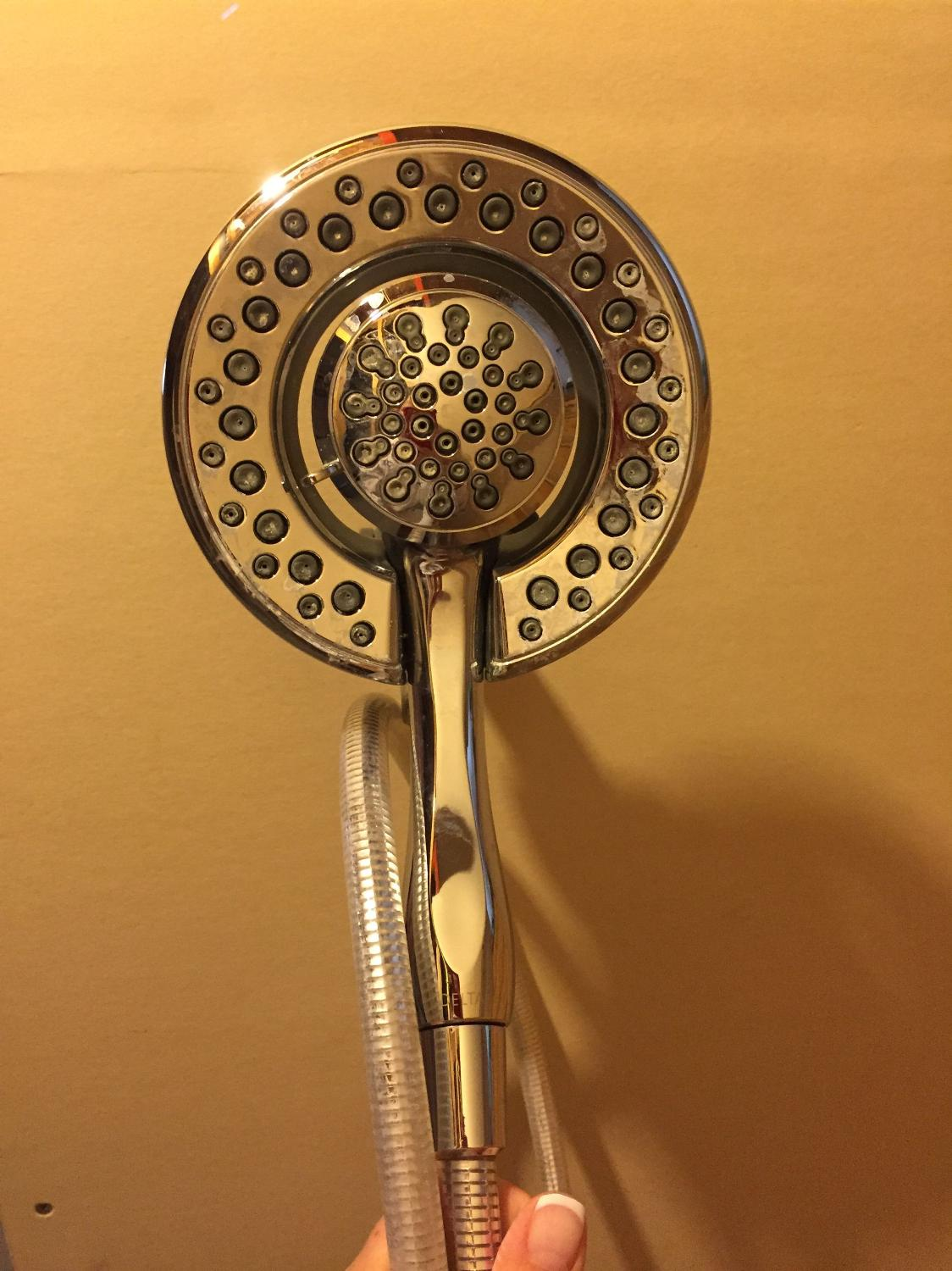 find more delta rain head hand held shower head for sale