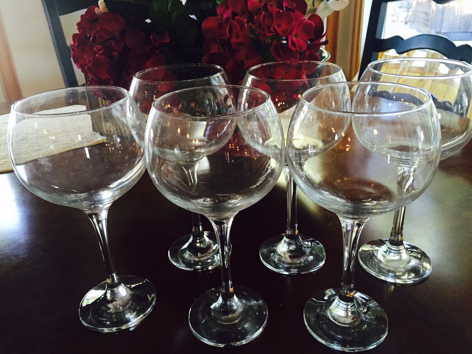 Best 6 large red wine glasses for sale in el dorado county for Large red wine glass