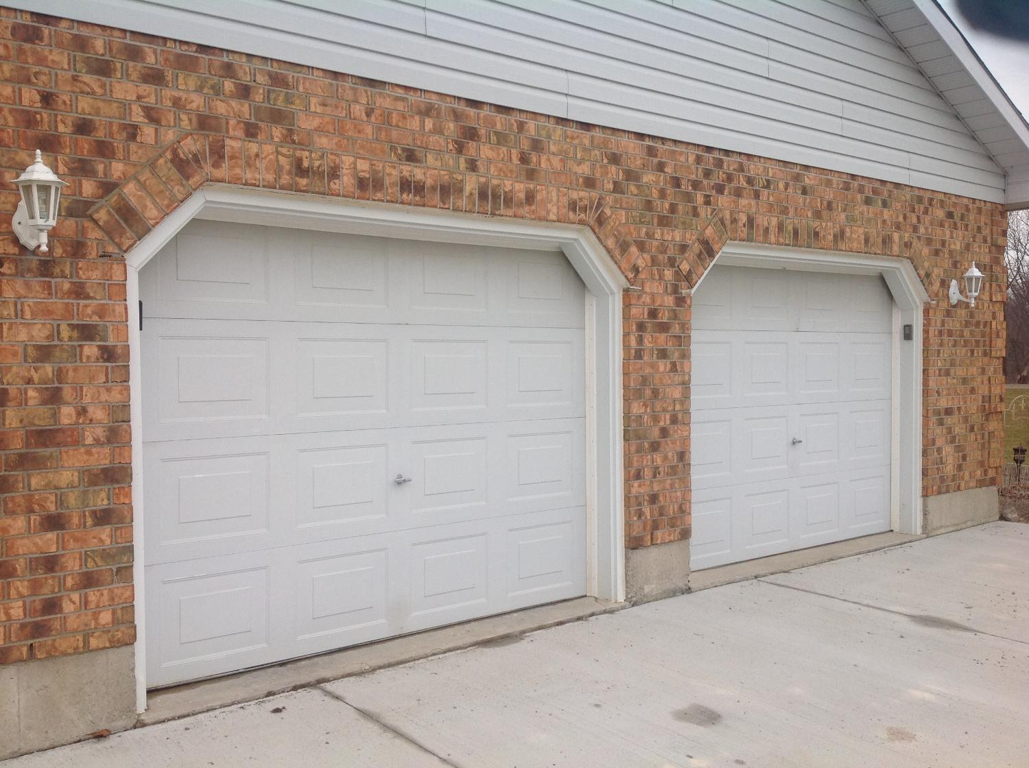1120 #8A5D41 Find More 9x7 Garage Doors With Stanley Openers 250 Each Set For Sale  image Stanley Garage Doors Residential 37931500