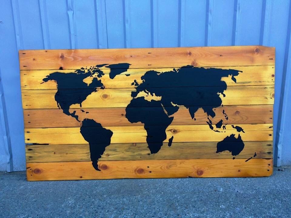 Best World Map Wall Decor For Sale In Victoria British