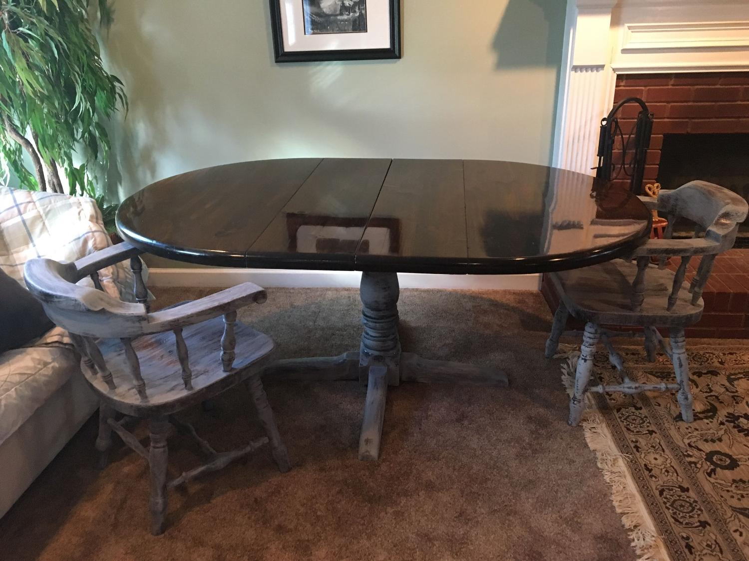 Best Shabby Chic Distressed Table And 4 Chairs For Sale In Roswell Georgia For 2018