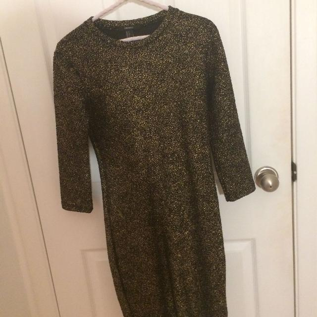 Best Forever 21 Black And Gold Dress For Sale In Montral Quebec