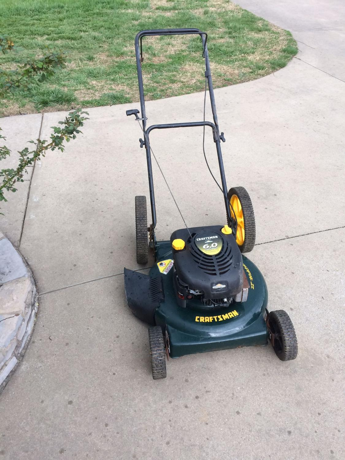 how to clean under push mower