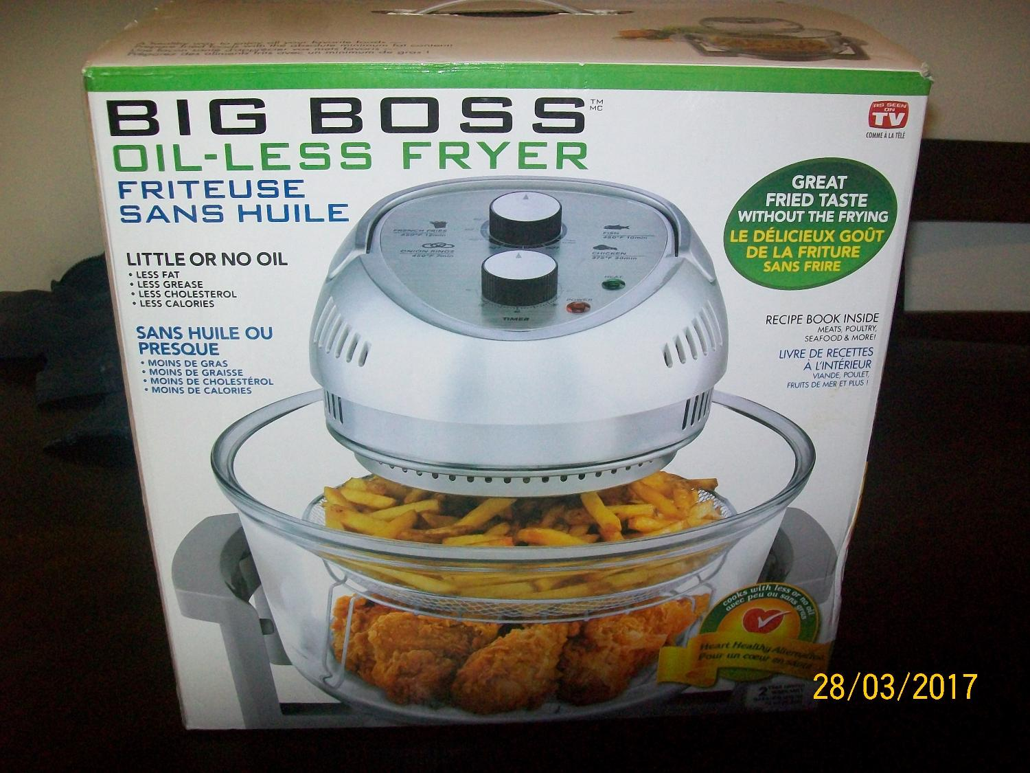 Find more Big Boss Oil-less Fryer for sale at up to 90% off