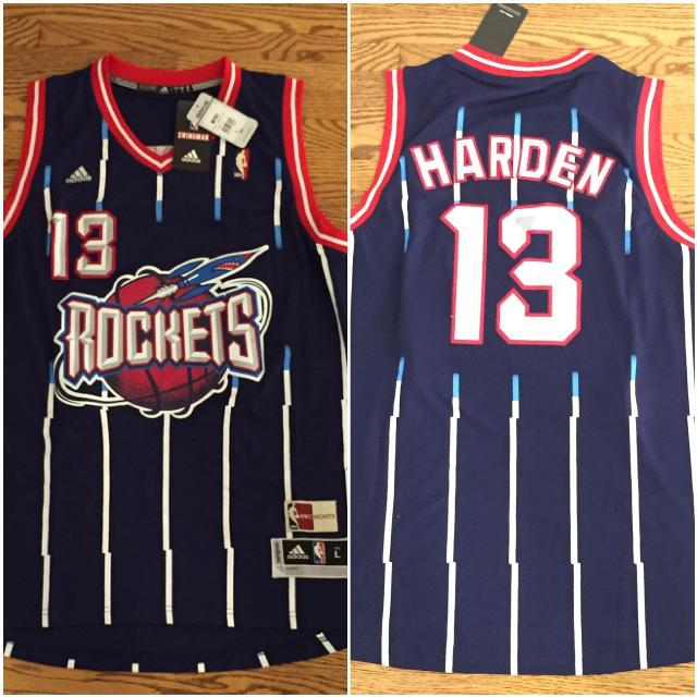 100% authentic d1416 0814e James Harden Houston Rockets Retro Jersey