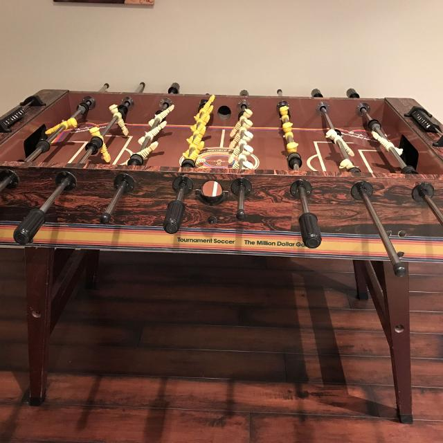 Find More Vintage Million Dollar Game Foosball Table For Sale At Up - Tournament soccer foosball table