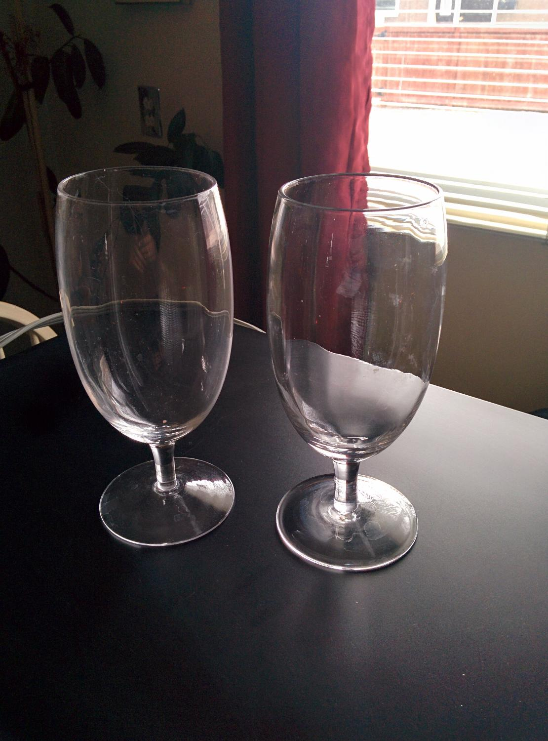 Find More Two Tall Short Stem Wine Glasses For Sale At Up