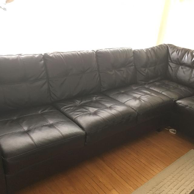 Best Brown Bonded Leather Sofa for sale in Yorkville, Ontario for 2019