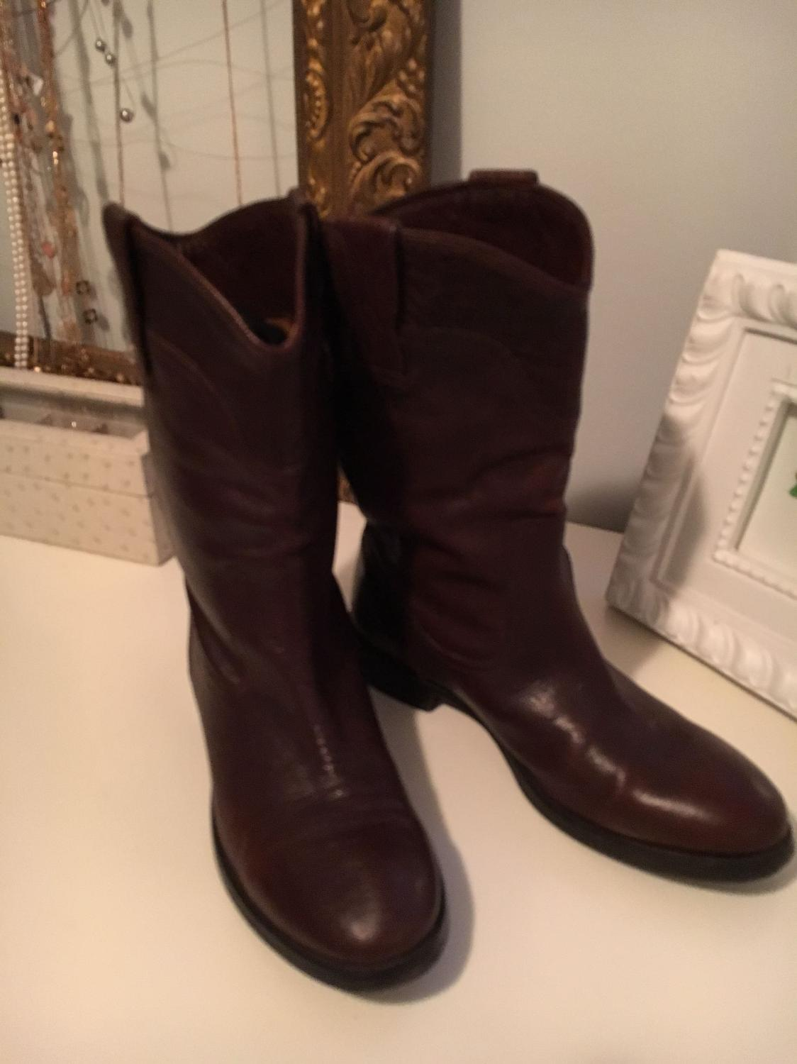6e114dca788 Massimo Dutti Leather Cowboy Boots - brown