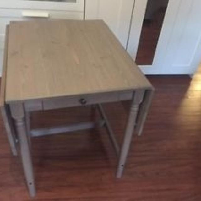 Ikea Ingatorp Drop Leaf Table Grey Brown 40