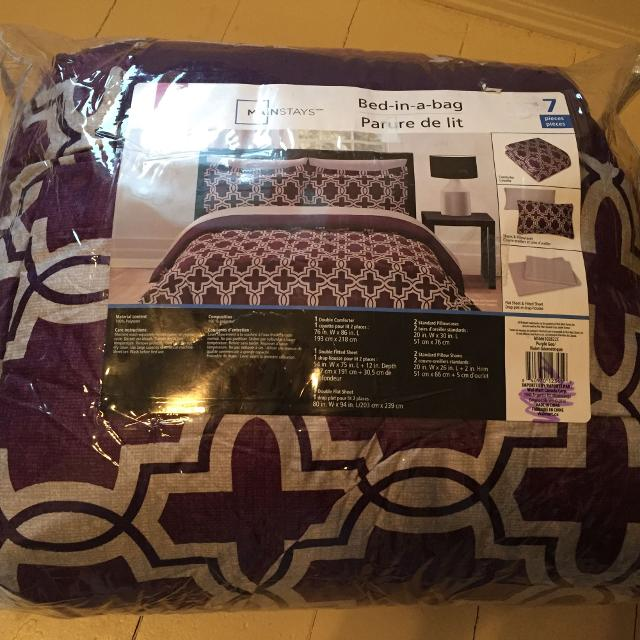 Find More Mainstays 7 Piece Bedding Double For Sale At Up To 90 Off