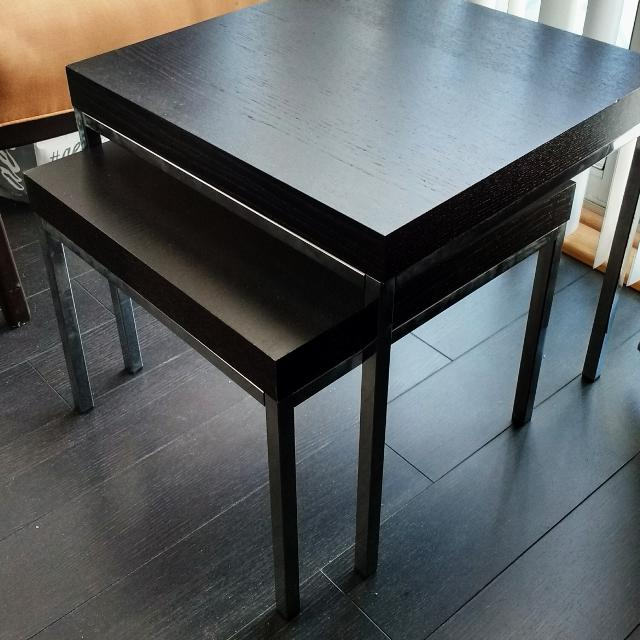 Find More Ikea Klubbo Nesting Tables In Black Brown Finish For Sale