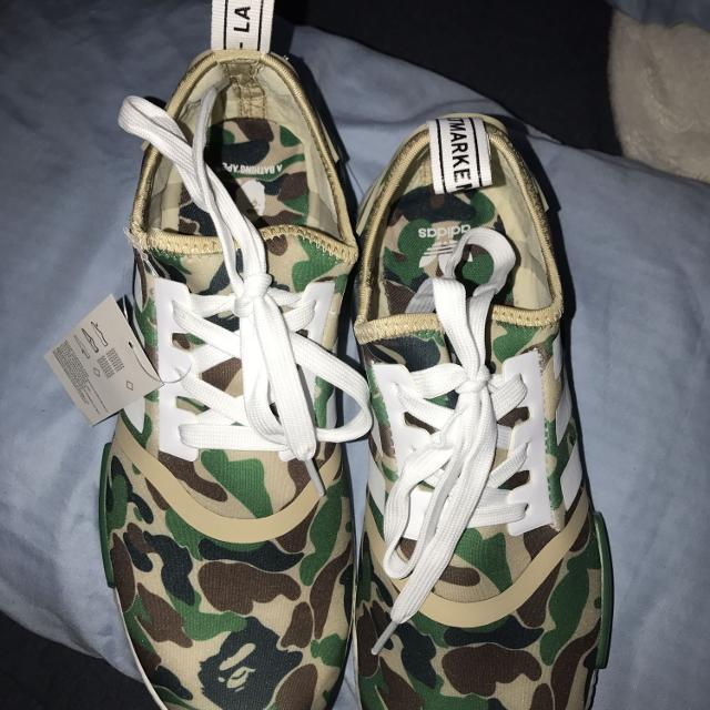 1618e8691 Best Adidas Nmd Bape Green Camo Size 9.5 for sale in Houston
