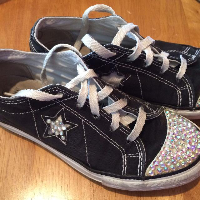Bedazzled Black Converse