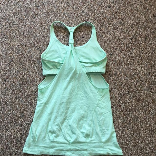 9ea0b8ed347c2 Find more Adorable Mint Green Lululemon Tank Top With Built In Bra ...