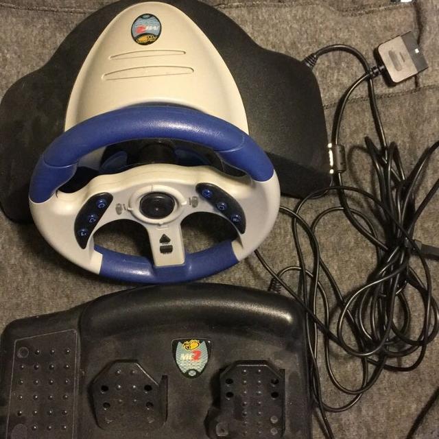 MadCatz PS2 Racing Steering Wheel & Pedals