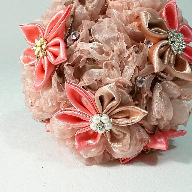 Best Bridal Bouquets, Fabric Flower Bouquets, Kanzashi Flower ...