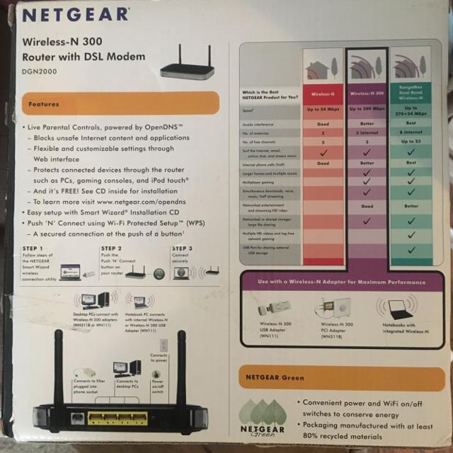 Netgear Router with DSL modem