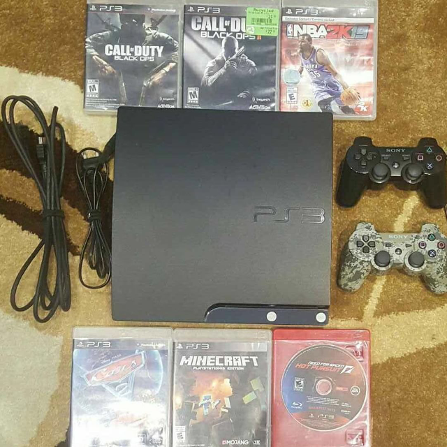 PlayStation 3 PS3 Slim 120 GB + 2 Controllers + 6 Games (Yonge & Sheppard)