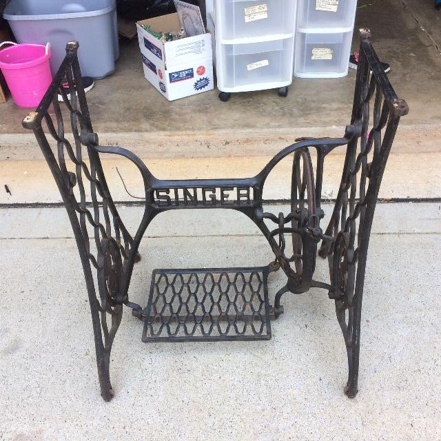 Vintage Cast Iron Singer Sewing Machine Legs Make Great Table