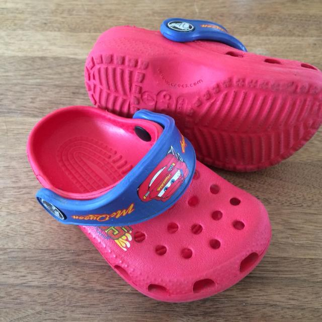b9750497ead Find more Toddler Lightning Mcqueen Crocs, Size 4/5 for sale at up ...