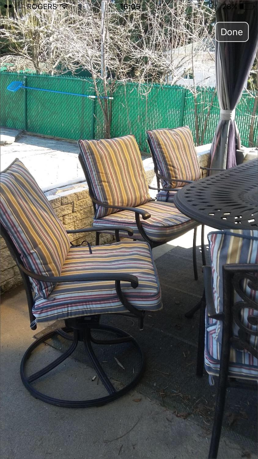 Best 4 patio chair cushions from club piscine for sale in for Outdoor furniture quebec