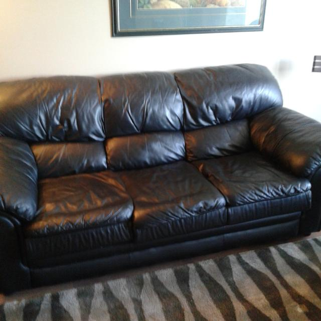 Palliser black leather 3 seater sofa. Horizon edition.